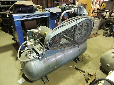 Air Compressor Saylor Beall. 15hp 3 Phase 120 Gal. Tank Clean Fully Working