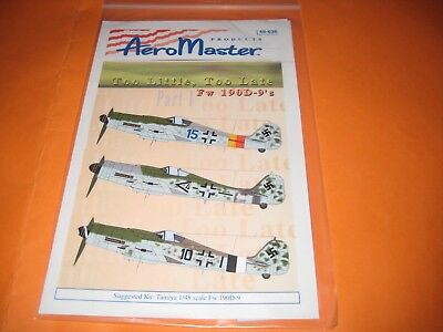 FW-190 D BY AEROMASTER DECALS AMD.48636
