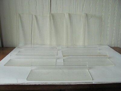 10 Plexiglas Acrylic Plastic Slat Wall Display Shelves 10 Long 3 34 Deep