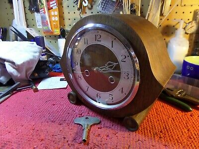 FULLY RESTORED SMITHS ENFIELD STRIKING MANTEL CLOCK       91 PHOTO ALBUM OF WORK