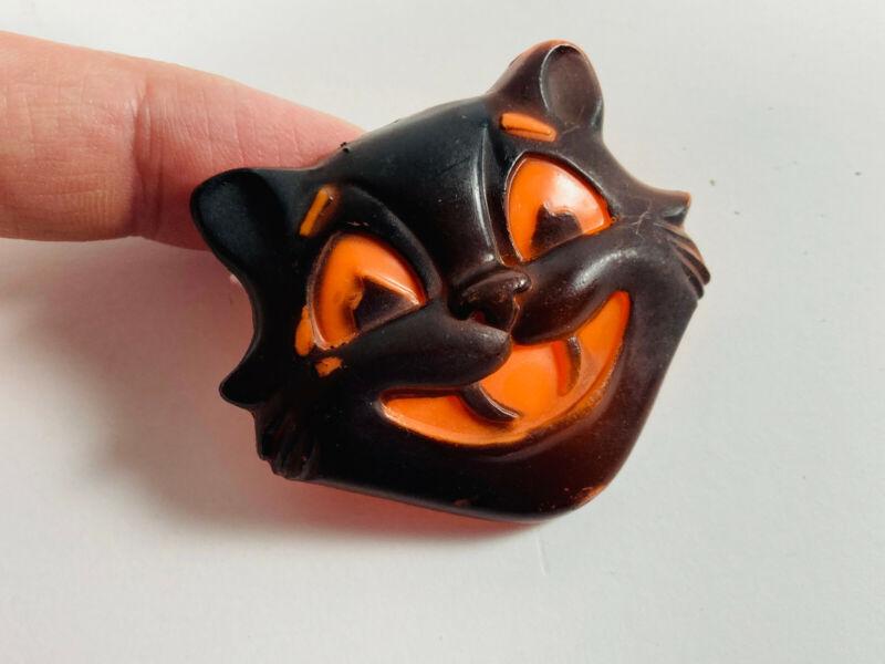 Vintage Halloween Black Cat Plastic Clicker Noisemaker