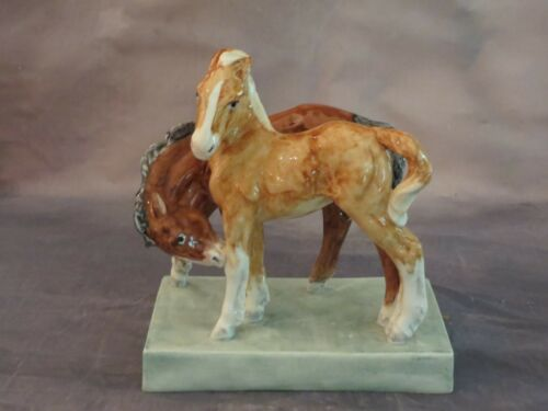 Rare Antique 1936  Royal Worcester Foals Horse Figurine By Doris Lindner #3152