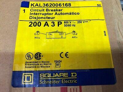 New In Box Square D 200 Amp 3 Pole 600 Vac 24 Vdc Shunt Trip Circuit Breaker Kal