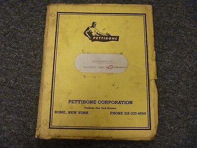 Pettibone Model 30 Multikrane Skidder Repair Parts Catalog List Manual