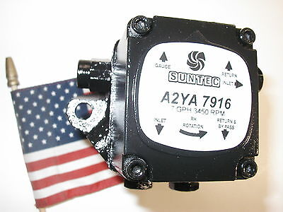 Suntec A2ya7916 Oil Burner Pump 7 Gph 3450 Rpm One Year Warranty