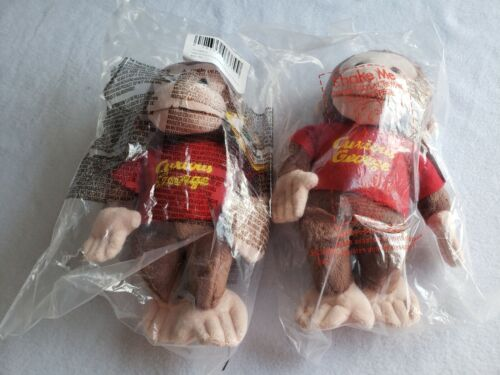 LOT of Two Gund Curious George plush/ New in plastic