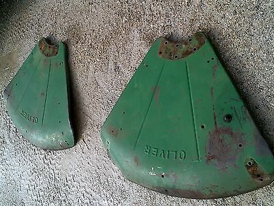 Oliver 770 Rowcrop Tractor Original Set Pair Oliver Clamshell Fenders