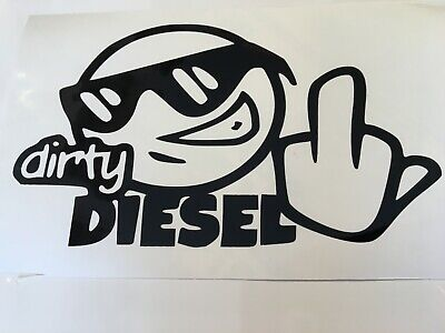 Dirty Diesel ,car decal/ sticker for windows, bumpers , panels or laptops