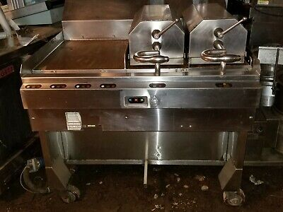 Taylor Meat Press Comercial Flat Top Grill F802-23 Stainless 2 Platen Clamshell