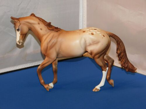 Peter Stone Thoroughbred Holtby Chestnut Appaloosa Horse Model OOAK! Matte