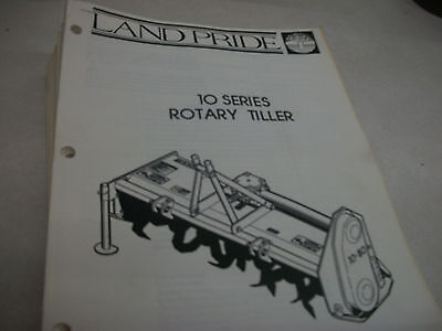 Land Pride 10 Series Rotary Tiller Owners Manual