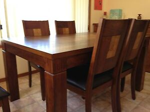 Timber dinning table & chairs Mollymook Beach Shoalhaven Area Preview