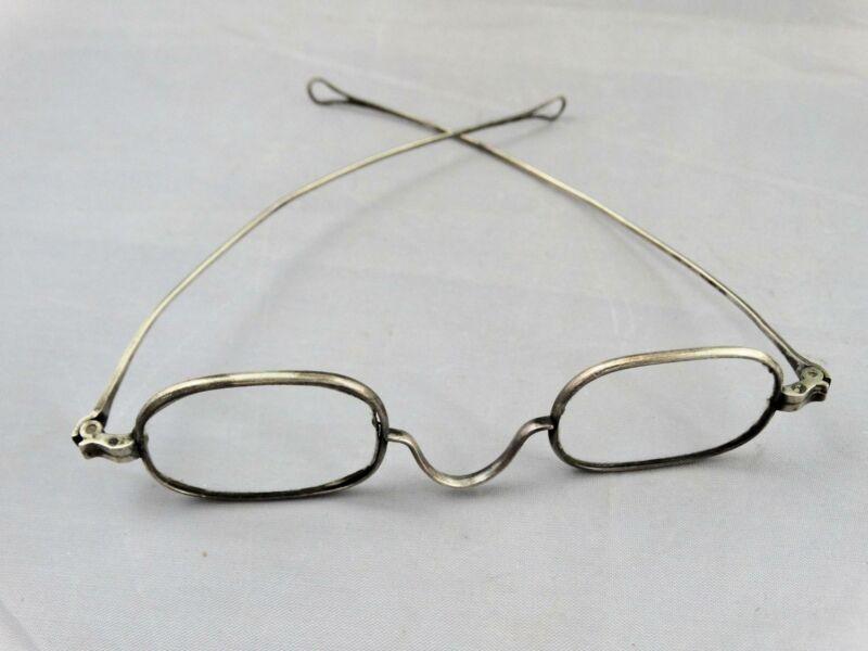 Antique Civil War Era Coin Silver Eyeglasses Spectacles