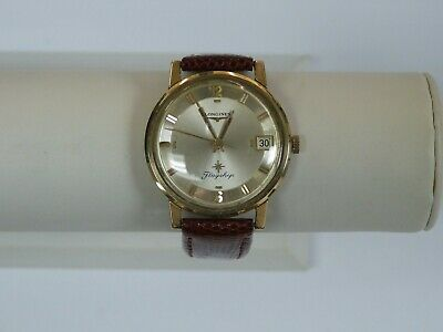 VINTAGE LONGINES FLAGSHIP AUTOMATIC 10K GOLD FILLED MEN'S WATCH