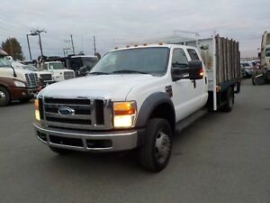 2009 Ford F-550 Flat Deck Diesel Crew Cab 2WD Dually with Power