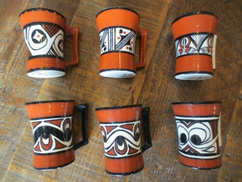 Six Ukrainian Art Ceramic Mugs