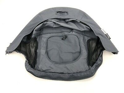 Bugaboo Donkey Breezy Sun Canopy Charcoal Gray/ Black Water Repellent Mesh NWT!