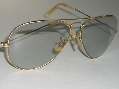 58[]14mm VINTAGE BAUSCH & LOMB RAY-BAN ARISTA PHOTOCHROMATIC AVIATOR (Ray Ban Arista Aviator)