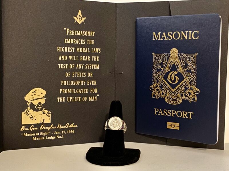 Masonic Passport & Size 10 Ring Flash Deal
