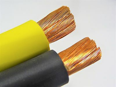 30 20 Welding Battery Cable 15 Black 15 Yellow 600v Usa Heavy Duty Copper