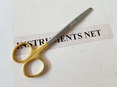 Suture Scissors 5.5 Gold Plate German Stainless Steel Ce