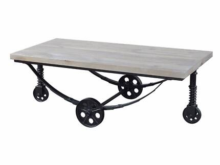 BRAND NEW ASHLEY Industrial Rustic Coffee Table
