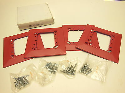 Package Of 4- System Sensor Mp-sf Mount Semi Flush Mounting Plate