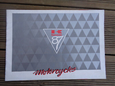 RARE ORIGINAL KAWASAKI 1987 MOTORCYCLE RANGE BROCHURE GPZ1000 GPZ900 GPZ750