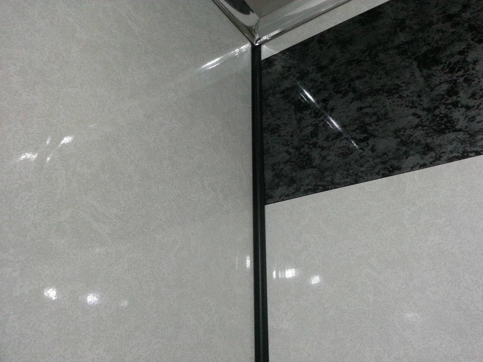 5 White Frost Shower Wall Panels Waterproof Shower Wet