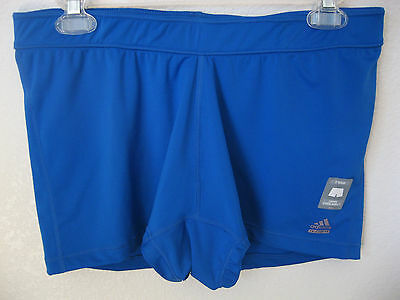 womens adidas techfit compression shorts xl blue athletic climalite