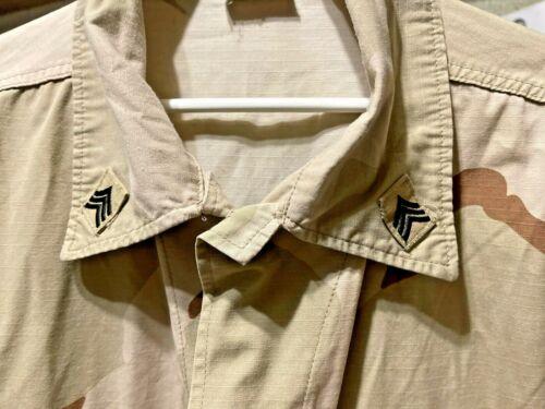 US Army 3-Color Desert Camouflage Uniform BDU Coat or Shirt - X Large
