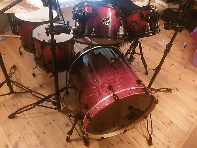 Mapex Armory drum kit with snare, cases and pedal