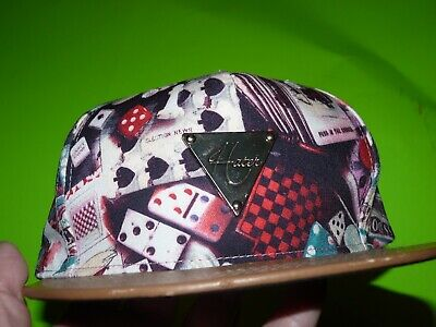 Hater Snapback Cool Poker Hip Hop Checkers Cap Dominoes Dice Games Playing Cards