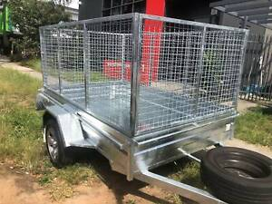 Galvanised Box Trailers with Straight Galvanised Sheet Floor Cardiff Lake Macquarie Area Preview