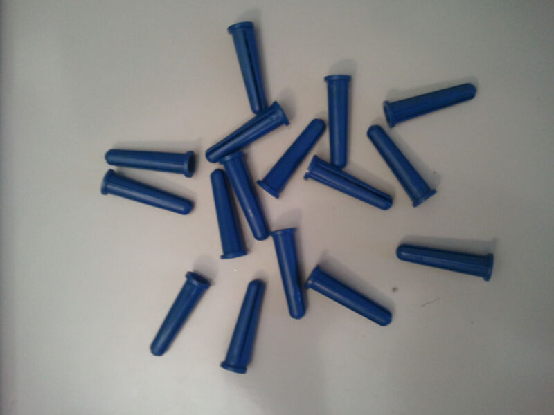 "14-16 x 1-3/8"" BLUE CONICAL PLASTIC WALL ANCHORS (500)PC"