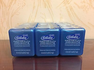 Glide Floss Mint - 18 Packs Oral-B Glide Pro-Health Advanced Dental Floss.Fresh Mint(4.3yd each)