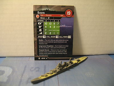Axis and Allies War at Sea Condition Zebra Suzuya 40/40