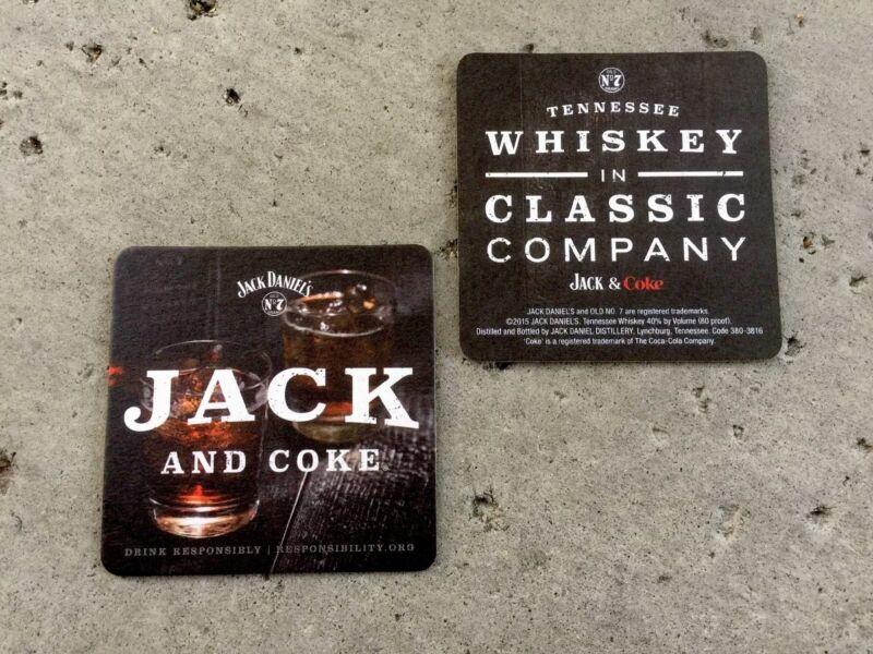 """Jack Daniels And Coke Genuine Bar Coasters You Receive. """"16"""" Coasters. ~~~"""