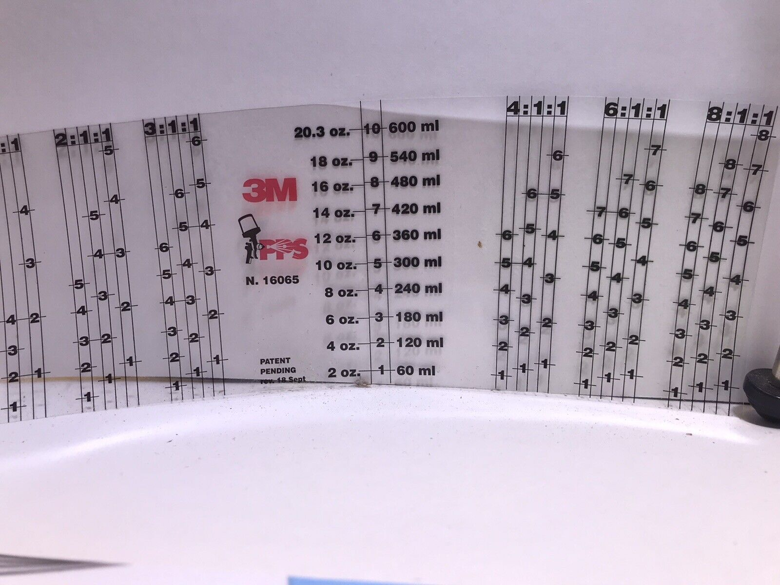 3M 16065 PPS MYLAR MIXING RATIO FILM INSERTS FOR STANDARD CUP -10 INSERT SHEETS