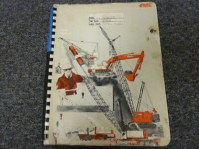 Link-belt Fmc Model Ls-338 Lattice Boom Crawler Crane Parts Catalog Manual