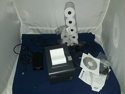 EPSON TM-T20II POS Thermal Receipt Printer Gray C31CD52062 complete + 8 rolls  segunda mano  Embacar hacia Mexico