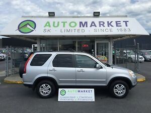 2002 Honda CR-V EX-L 4WD loaded! FINANCING FOR ALL CREDIT!