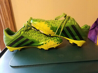 Adidas Boys Kids Green Black PREDATOR Absolion LZ TRX Youth Soccer Cleats Size 4