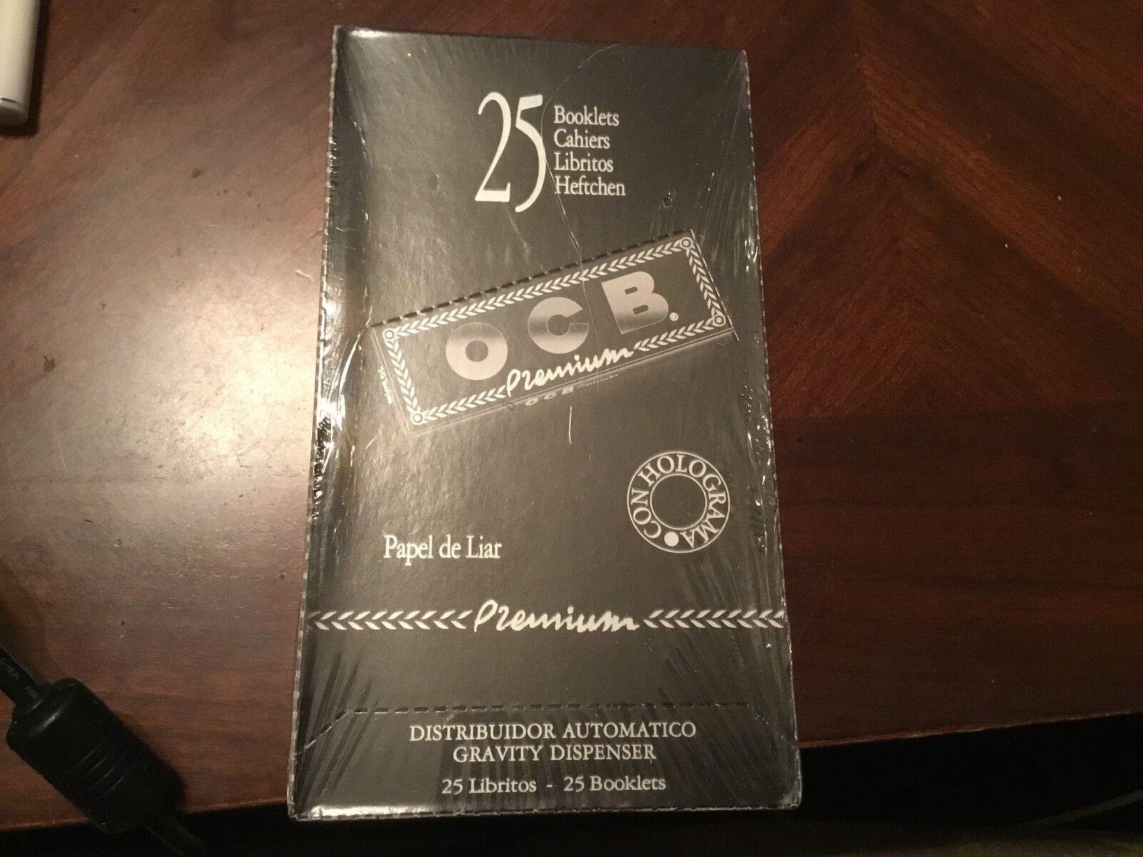 OCB Premium Black(24 Packs/50 leaves per Pack)box of Rolling Papers 1 1/4*1.25