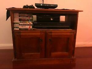 Wooden TV trolly