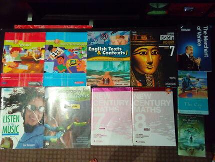 Year 7 & 8 textbooks: English, Math, history, Geography, Tech etc North Parramatta Parramatta Area Preview
