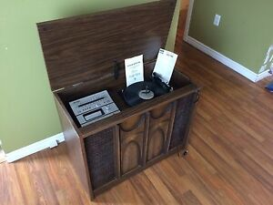Olympia stereo /8 track/ record player combo