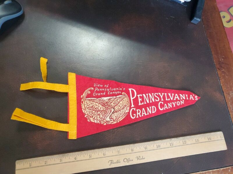 Vintage 1950s Felt Pennant Pennsylvania Grand Canyon