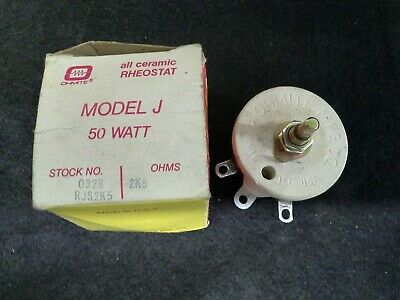 Ohmite Rjs2k5 2500 Ohm Model J All Ceramic Rheostat