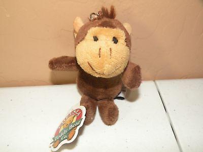 Monkey Teddy Bear (Chelsea Teddy Bear Co. Monkey KEY TAG Stuffed Plush animal Key Chain New)